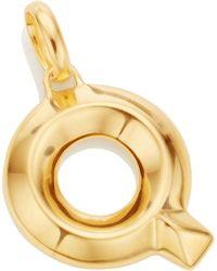 Monica Vinader - Gold Capital Q Pendant - Lyst
