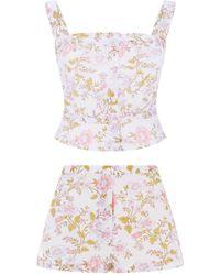 Thierry Colson Floral Pajama Top - Multicolor