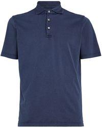 Fedeli Ice Polo Shirt - Blue