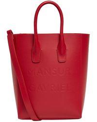 Mansur Gavriel - Mini Logo Embossed Tote Bag - Lyst