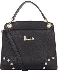 Harrods Mini Rockingham Grab Bag - Black