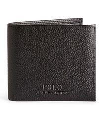 Ralph Lauren Black Grained Billfold Leather Wallet