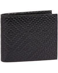 Harrods Leather Bifold Wallet - Black
