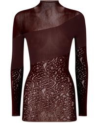 Wolford Poison Dart Pullover Top - Brown