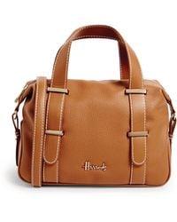 Harrods Rylett Top-handle Barrel Bag - Brown