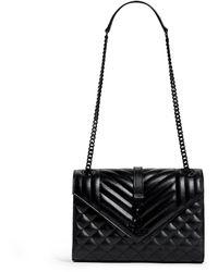 Saint Laurent - Medium Quilted Leather Envelope Shoulder Bag - Lyst