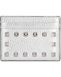 Valentino - Metallic Rockstud Card Holder - Lyst