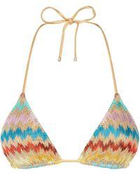 Missoni - Zig Zag Triangle Bikini Top - Lyst