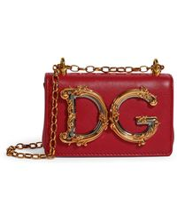 Dolce & Gabbana Leather Dg Girls Cross-body Bag - Red