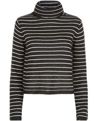 AllSaints - Marty Striped Roll Neck Jumper - Lyst