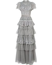 Needle & Thread - Cinderella Tiered Lace Gown - Lyst