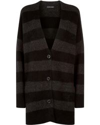 Eileen Fisher - Striped Cashmere Cardigan - Lyst