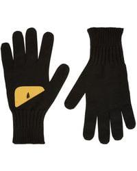 Fendi Knitted Monster Eye Gloves - Black