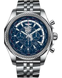 Breitling Stainless Steel Bentley B05 Unitime Chronograph Watch 49mm - Blue