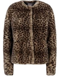Lilly E Violetta Short Mink Coat - Brown