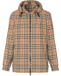 Burberry - Vintage Check Hooded Jacket - Lyst