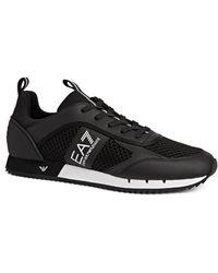 Armani Mesh Runner Sneakers - Black