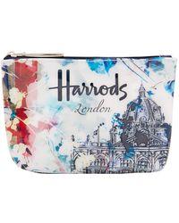 Harrods Watercolour Purse - White