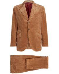 Brunello Cucinelli Corduroy Suit - Natural