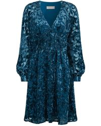 MICHAEL Michael Kors - Velvet Devor Mini Dress - Lyst
