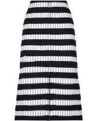 Akris - Josephine Baker Wool Skirt - Lyst