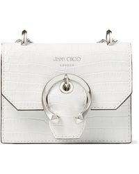 Jimmy Choo Mini Leather Paris Cross-body Bag - White