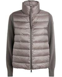 Moncler Padded Zip-up Cardigan - Gray