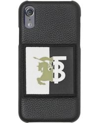 Burberry Leather Motif Iphone X/xs Case - Black