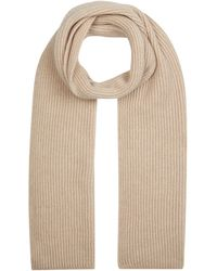 Harrods Cashmere Rib-knit Scarf - Gray