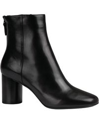 Sandro Leather Ankle Boots 75 - Black