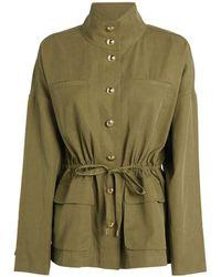ME+EM Cotton-blend Fluid Jacket - Green