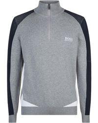 BOSS Green - Quarter Zip Sweater - Lyst