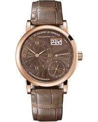 A. Lange & Sohne Rose Gold Little Lange 1 Watch 36.8mm - Brown