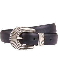 Andersons - Leather Western Buckle Belt - Lyst