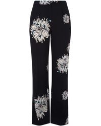 Elena Miro - Floral Crepe Trousers - Lyst