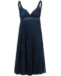 Burberry - Pleated Crepe De Chine Dress - Lyst