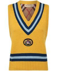 Burberry Archive Logo Sleeveless Jumper - Yellow