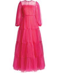 Huishan Zhang Tallulah Tulle Gown - Pink