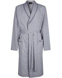 8746cadde0 Lyst - Hanro Jonas Check Robe in Blue for Men