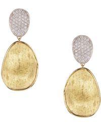 Marco Bicego - Lunaria Gold Diamond Drop Earrings - Lyst