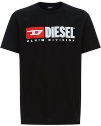 DIESEL - Logo Embroidered T-shirt - Lyst