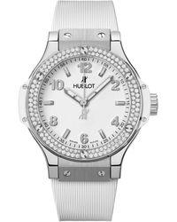 Hublot Stainless Steel And Diamond Big Bang Watch 38mm - Black