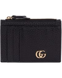 Gucci Leather Marmont Card Holder - Black