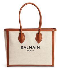 Balmain - Canvas B-army 42 Shopper Bag - Lyst