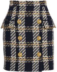 Balmain Tweed Check Mini Skirt - Multicolor