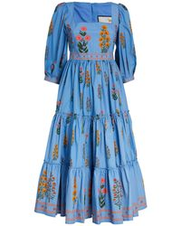 Agua by Agua Bendita Floral Miel Dress - Blue