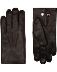 Dents - Fur Lined Leather Gloves - Lyst