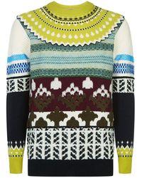 Burberry - Textured Knit Jumper - Lyst