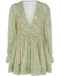 Stella McCartney - Floral Ruffled Dress - Lyst
