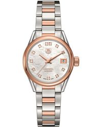 Tag Heuer - Carrera Mother-of-pearl Self-winding 32mm Watch - Lyst